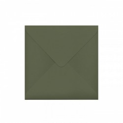 Red matte Square Wedding Invitation 150 mm