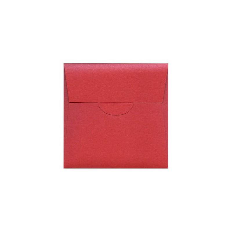 Partecipazione Pocketfold rettangolare colore rosso